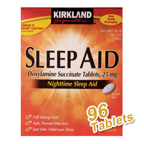 Kirkland Signature Sleep Aid, Doxylamine Succinate Tabs 25 mg, 96 Tablets/Bottle