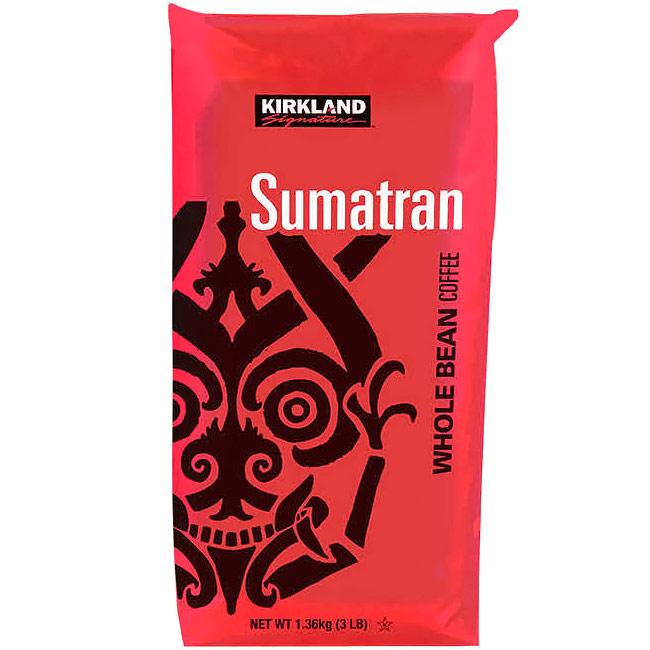 Kirkland Signature Sumatran Whole Bean Coffee, 3 lb x 2 Pack