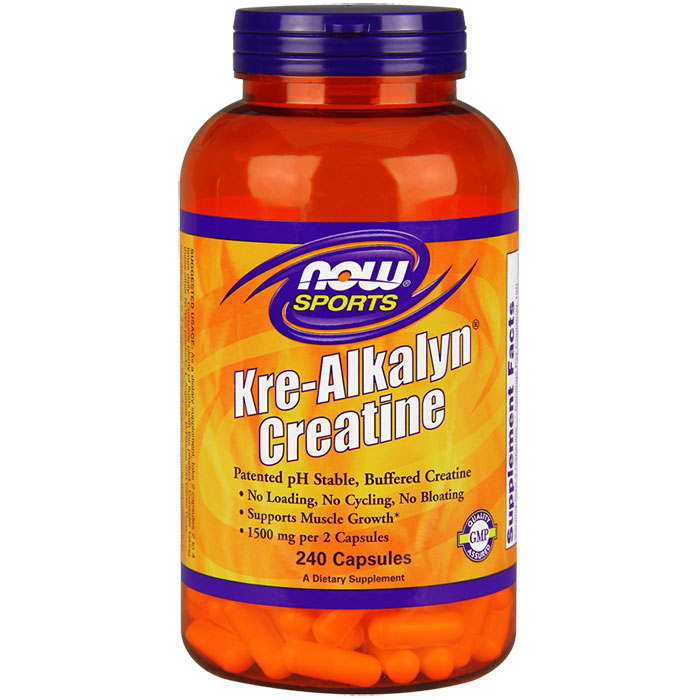Kre-Alkalyn Creatine 750 mg, 240 Capsules, NOW Foods