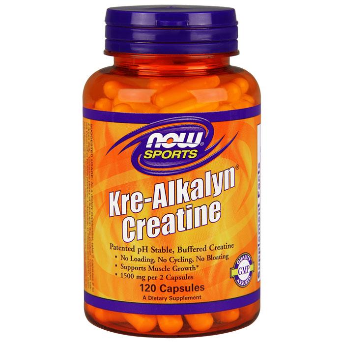 Kre-Alkalyn Creatine 750 mg, 120 Capsules, NOW Foods