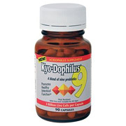 Kyo-Dophilus 9, Blend of Nine Probiotics, 90 caps, Wakunaga Kyolic