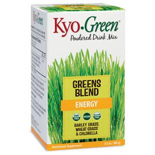 Kyo-Green Greens Blend Drink Mix Powder Single Serve, 20 Packets, Wakunaga