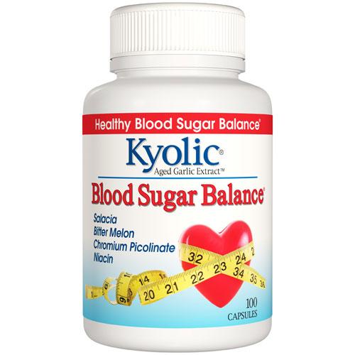 Kyolic Blood Sugar Balance, 100 Capsules, Wakunaga