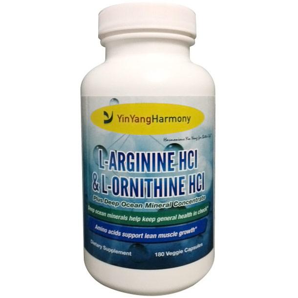 L-Arginine HCl & L-Ornithine HCl, 180 Veggie Capsules, YinYang Harmony