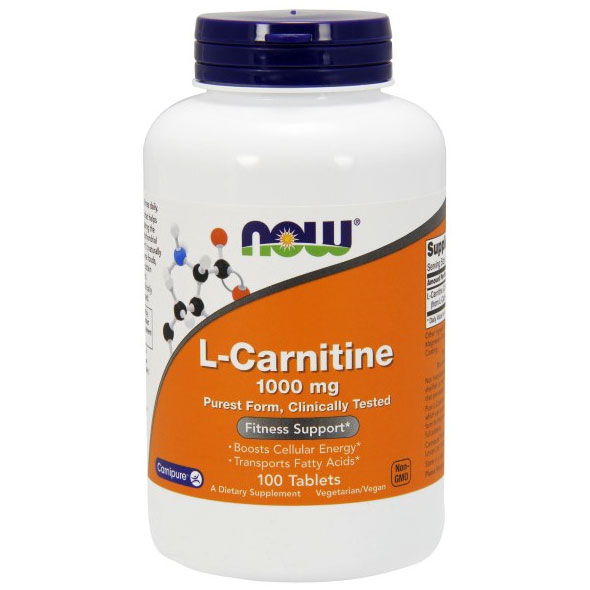L-Carnitine 1000mg 100 Tabs, NOW Foods
