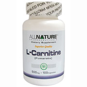 L-Carnitine (Fumarate) 500 mg, 100 Capsules, All Nature