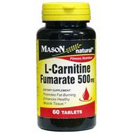 L-Carnitine Fumarate 500 mg, 60 Tablets, Mason Natural