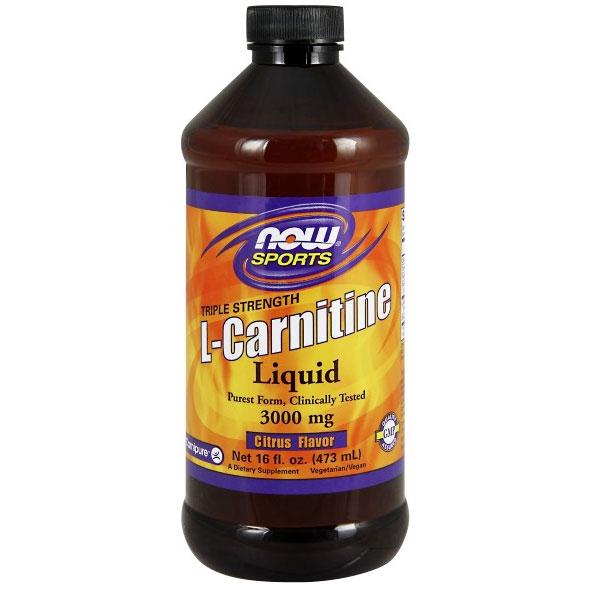 L-Carnitine Liquid 3000 mg, 16 oz, NOW Foods