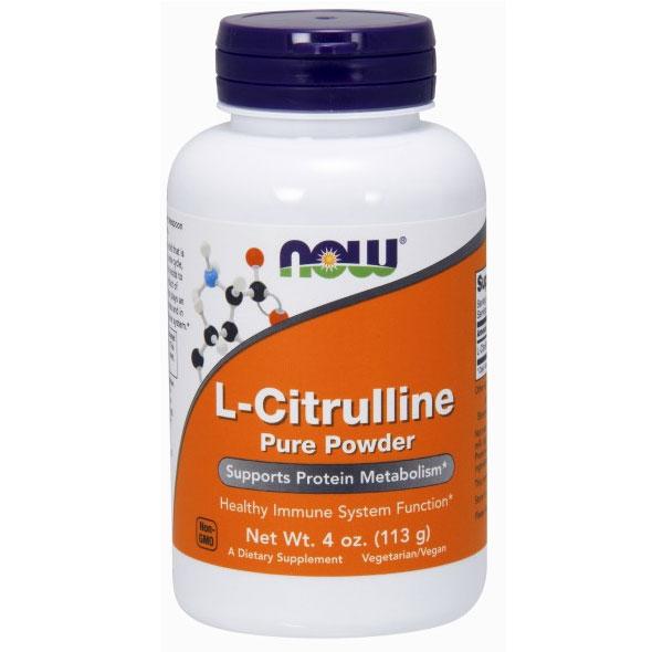 L-Citrulline Pure Powder, 4 oz, NOW Foods