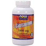 L-Glutamine 1000 mg 240 Caps, NOW Foods