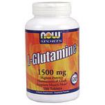 L-Glutamine 1500mg 180 Tabs, NOW Foods