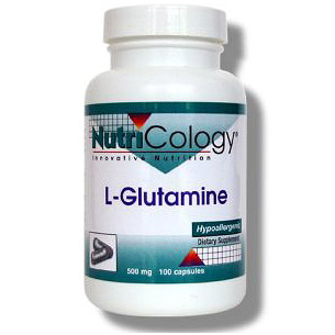 L-Glutamine 500mg 100 caps from NutriCology