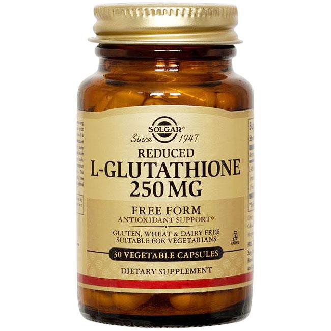 Reduced L-Glutathione 250 mg, 60 Vegetable Capsules, Solgar