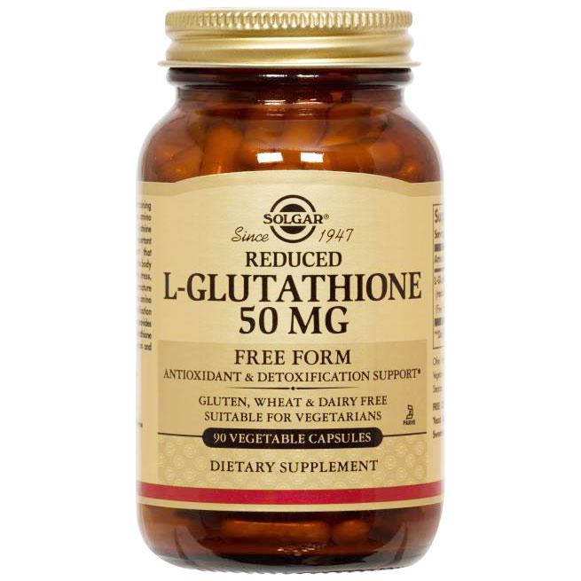 Reduced L-Glutathione 50 mg, 90 Vegetable Capsules, Solgar