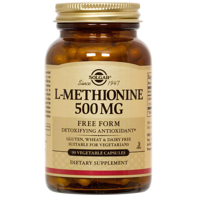 L-Methionine 500 mg, 90 Vegetable Capsules, Solgar
