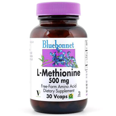 L-Methionine 500 mg, 30 Vcaps, Bluebonnet Nutrition