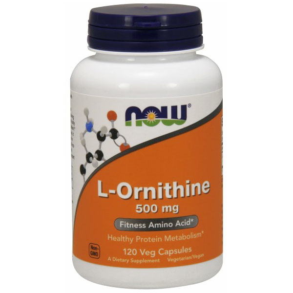 L-Ornithine 500mg 120 Caps, NOW Foods