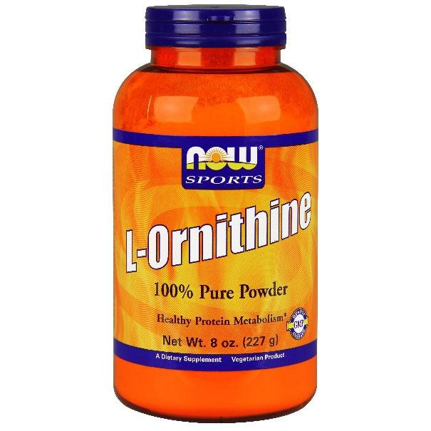 L- Ornithine HCl Powder Vegetarian 8 oz, NOW Foods
