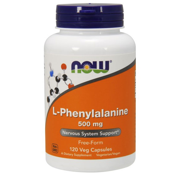 L-Phenylalanine 500mg 120 Caps, NOW Foods
