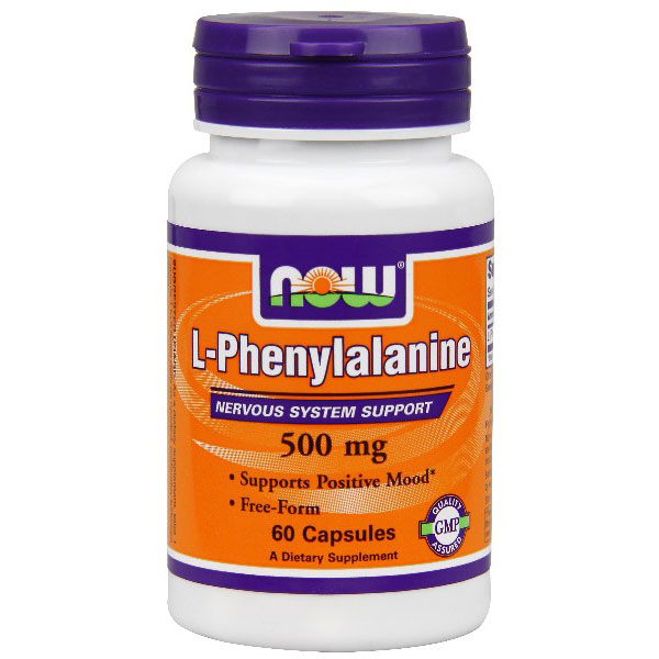 L-Phenylalanine 500 mg, 60 Capsules, NOW Foods