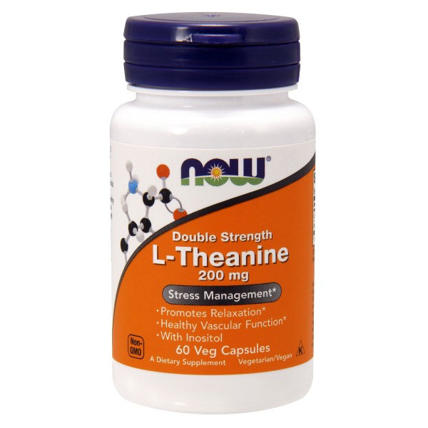 L-Theanine 200 mg Suntheanine, 60 Vcaps, NOW Foods