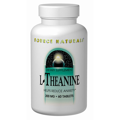 L-Theanine 200mg 30 tabs from Source Naturals