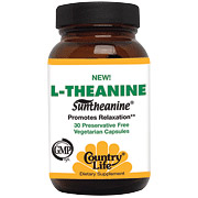 L-Theanine w/B6 60 Capsules, Country Life