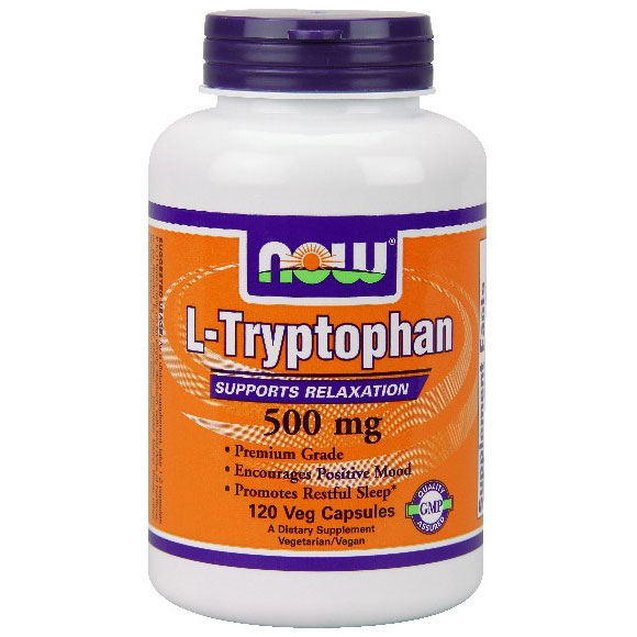 L-Tryptophan 500 mg, 120 Vcaps, NOW Foods