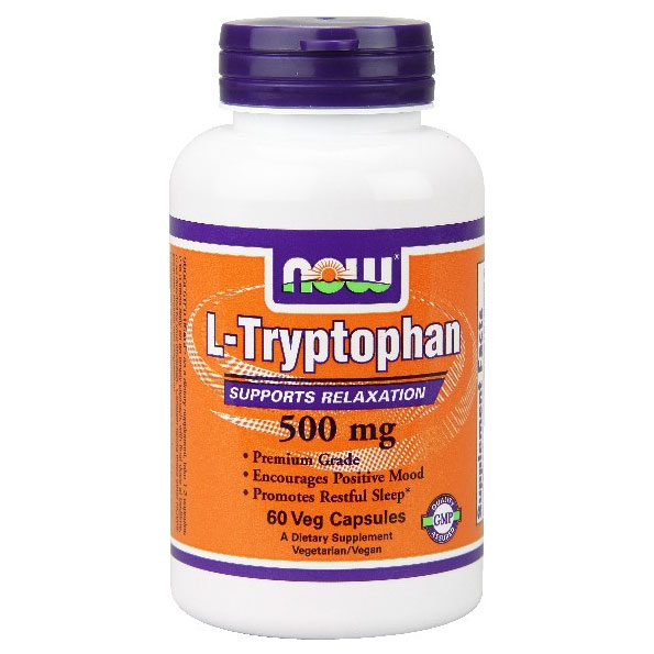L-Tryptophan 500 mg, 60 Vcaps, NOW Foods