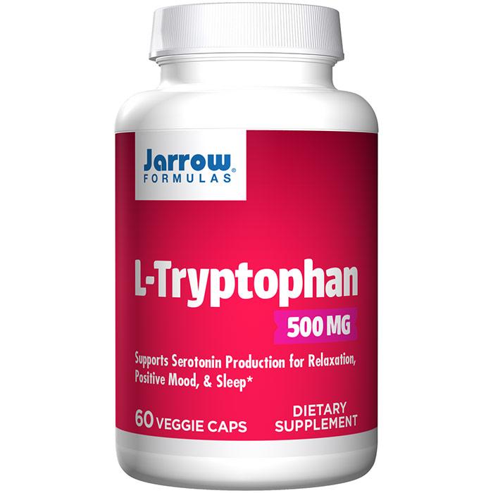 L-Tryptophan 500 mg, 60 Veggie Caps, Jarrow Formulas