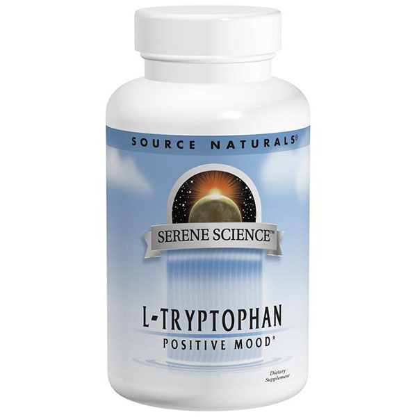 L-Tryptophan, 500 mg 60 caps from Source Naturals