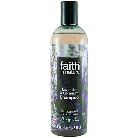 Lavender & Geranium Shampoo, 13.5 oz, Faith in Nature
