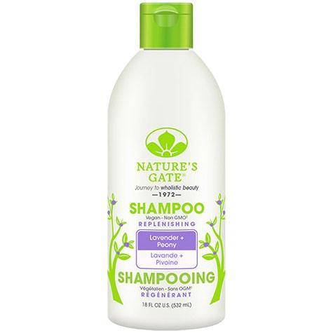 Lavender + Peony Replenishing Shampoo, 18 oz, Natures Gate