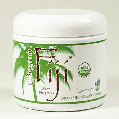 Lavender Sugar Polish, Organic Coconut Oil Face & Body Polish, 20 oz, Organic Fiji
