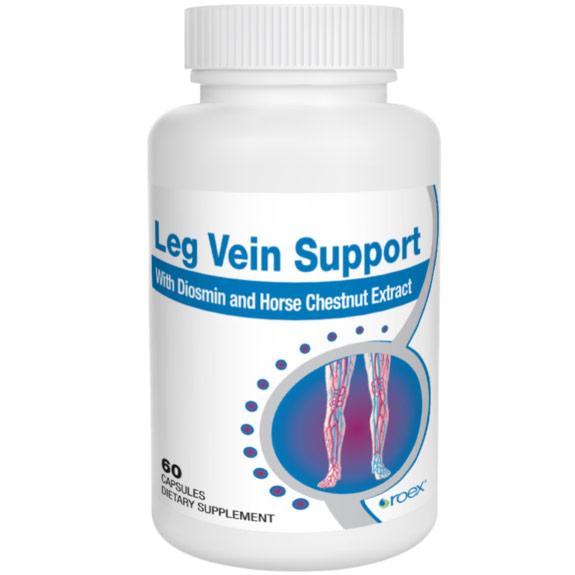 Leg Vein Support, 60 Capsules, Roex