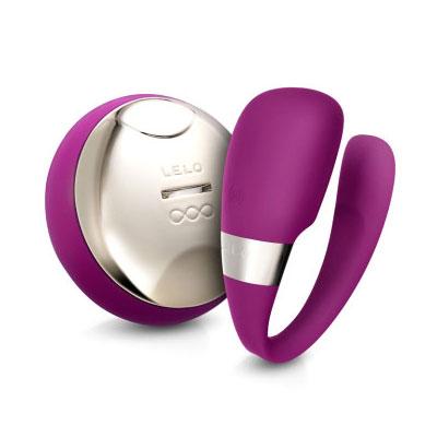 Lelo Tiani 3 Remote Controlled Couples' Massager Vibrator - Deep Rose