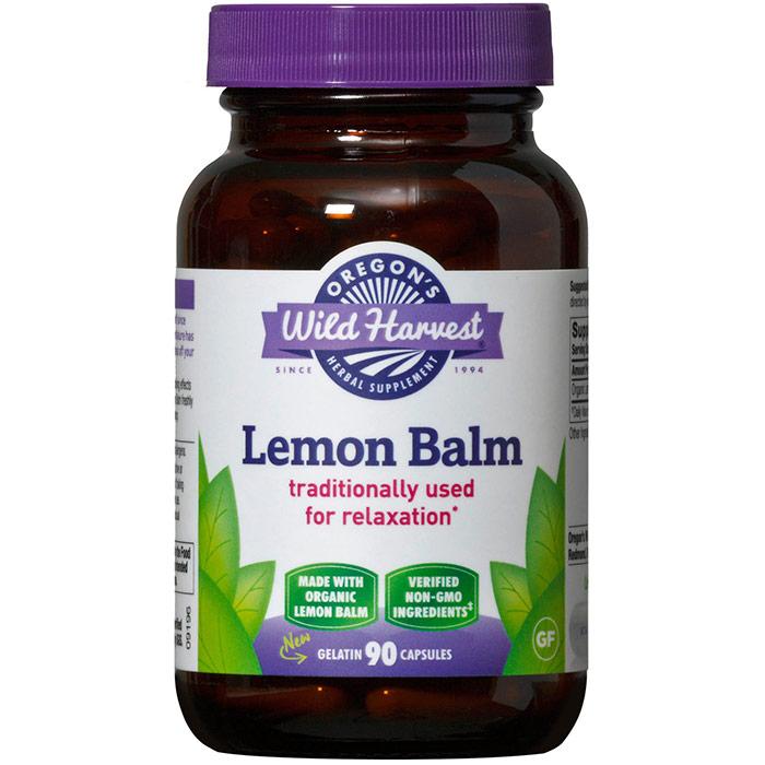 Lemon Balm, Organic, 90 Capsules, Oregons Wild Harvest