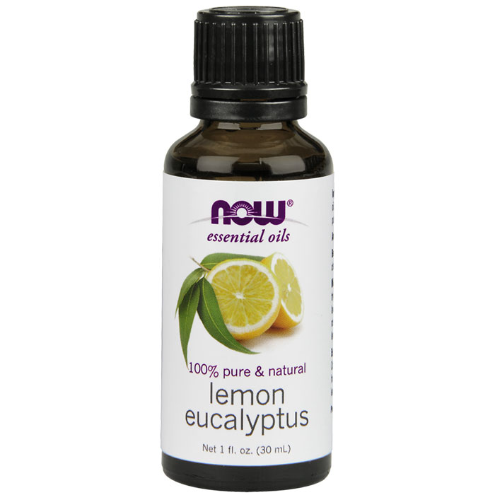 Lemon & Eucalyptus Essential Oil Blend, 4 oz, NOW Foods