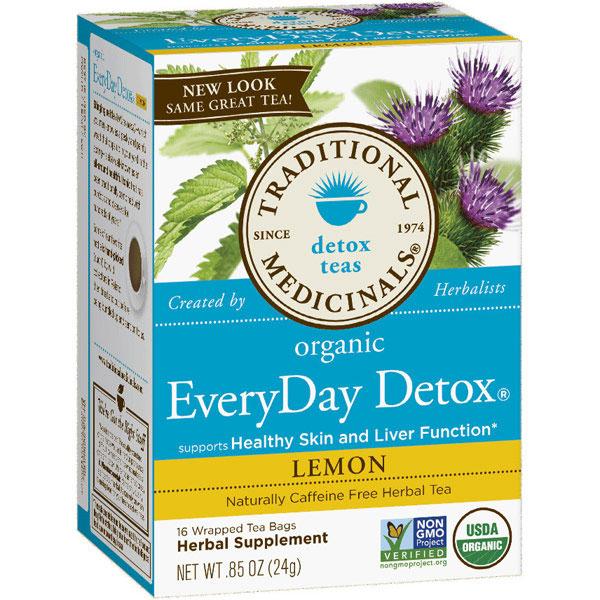 Lemon Everyday Detox Tea, 16 Tea Bags, Traditional Medicinals Teas