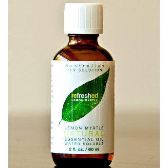 Lemon Myrtle 15% Water Soluble Natural Essential Oil, 2 oz, Tea Tree Therapy