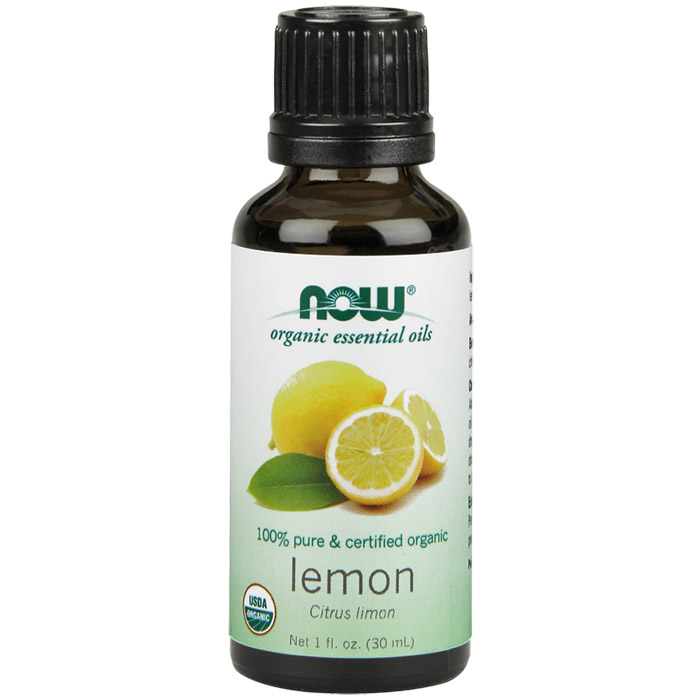 Lemon Oil, Organic Essential Oil 1 oz, NOW Foods