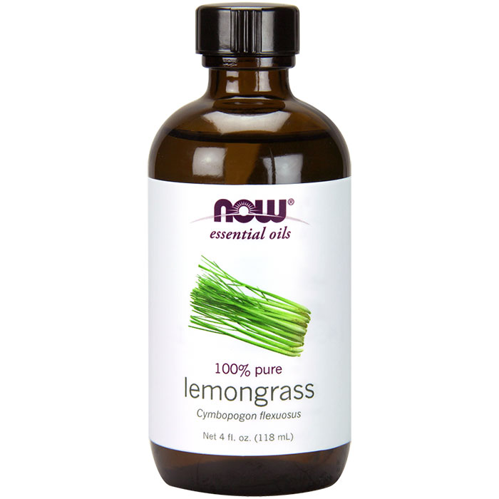 Lemongrass Oil, Natural Essential Oil, 4 oz, NOW Foods