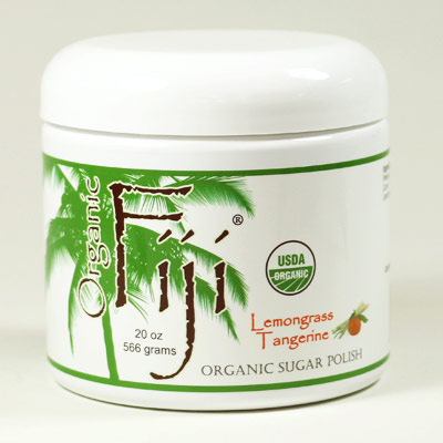 Lemongrass Tangerine Sugar Polish, Organic Coconut Oil Face & Body Polish, 20 oz, Organic Fiji