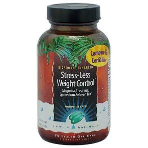 Less Stress Weight Control, Cortisol Formula, 75 Liquid Gel Caps, Irwin Naturals