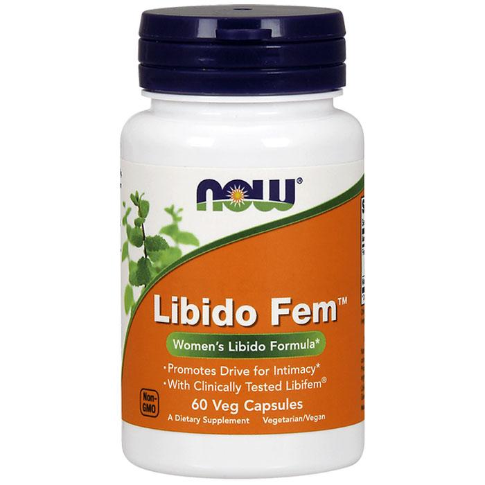 Libido Fem, Womens Libido Formula, 60 Veg Capsules, NOW Foods