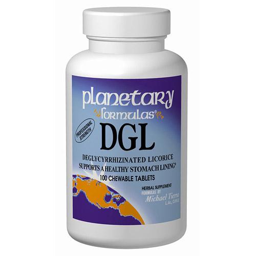 Licorice DGL Deglycyrrhizinated Chewable 200 tabs, Planetary Herbals