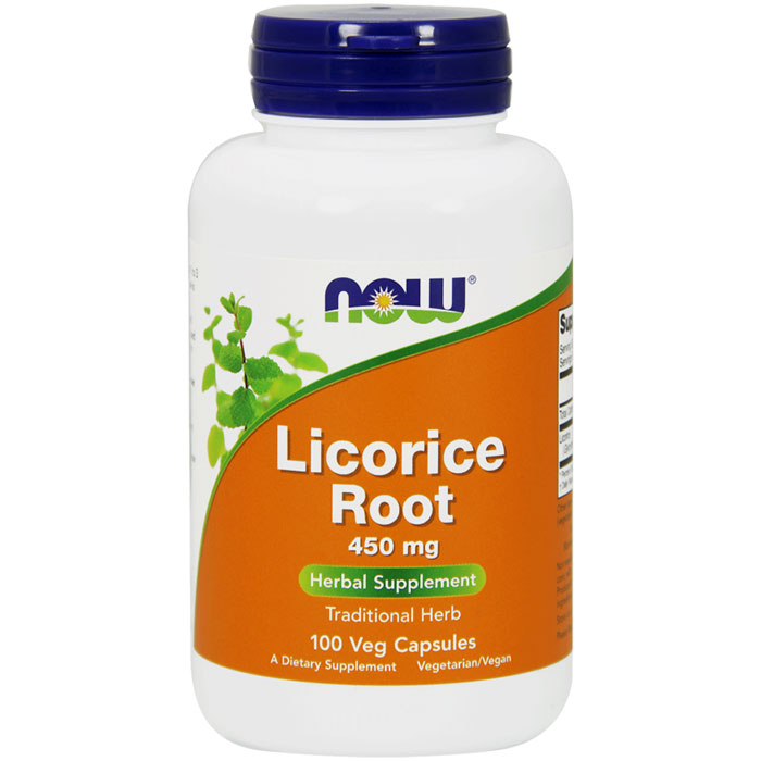 Licorice Root 450 mg, 100 Capsules, NOW Foods