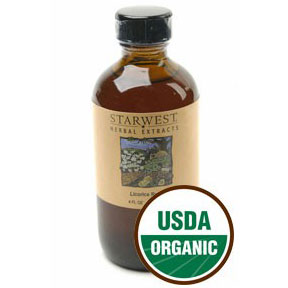 Licorice Root Extract Liquid 4 oz Organic, StarWest Botanicals