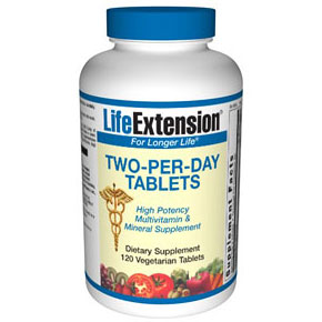 Life Extension Two-Per-Day, 120 Vegetarian Tablets, Life Extension
