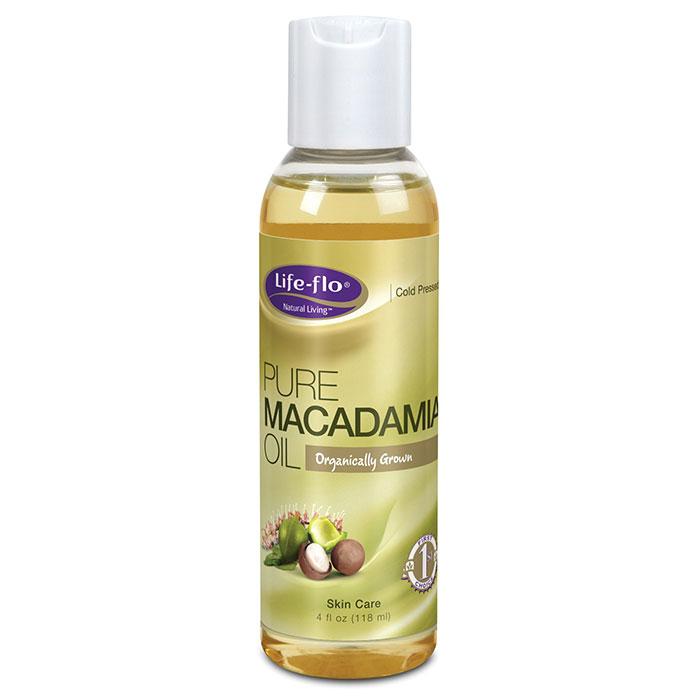 Life-Flo Organic Pure Macadamia Oil, 4 oz, LifeFlo